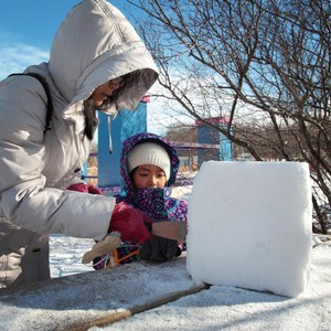 winter family activity at parc jean-drapeau
