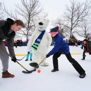 What to do in Montreal in Winter: hockey at Parc Jean-Drapeau