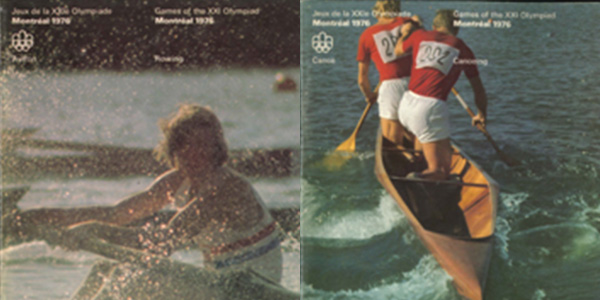 Cover page of the rowing and canoeing programs, 1976